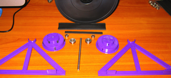 Reel Holder All Pieces